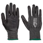 Men's Level 5 Cut-Resistant Nitrile-Dipped Work Gloves - M