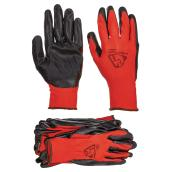 Polyester and Nitrile Gloves - Pack of 10 - Red