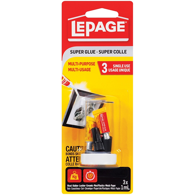 Super Colle Multi-Usage, 1 ml, paquet de 3