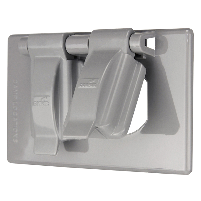 Weatherproof Grey Plastic Outlet Cover