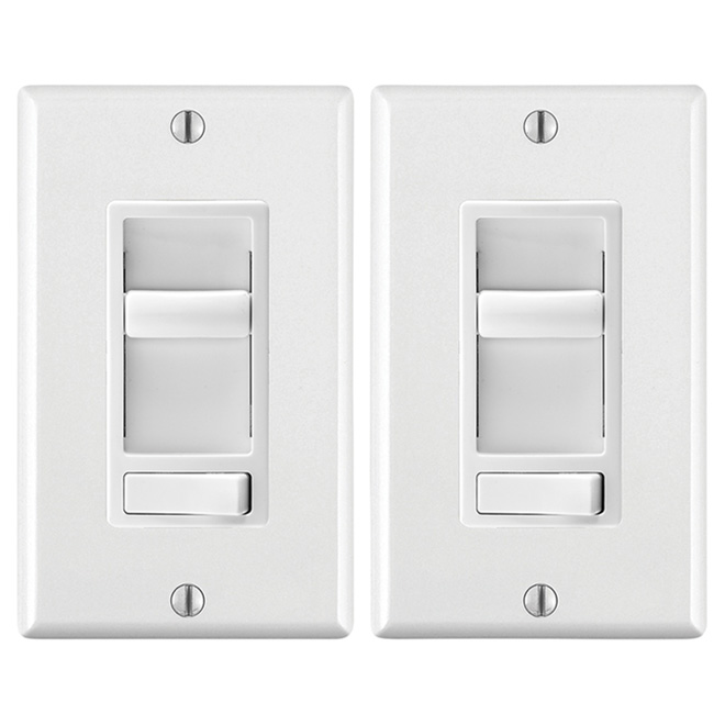 Universal Dimmer - White - 2-Pack