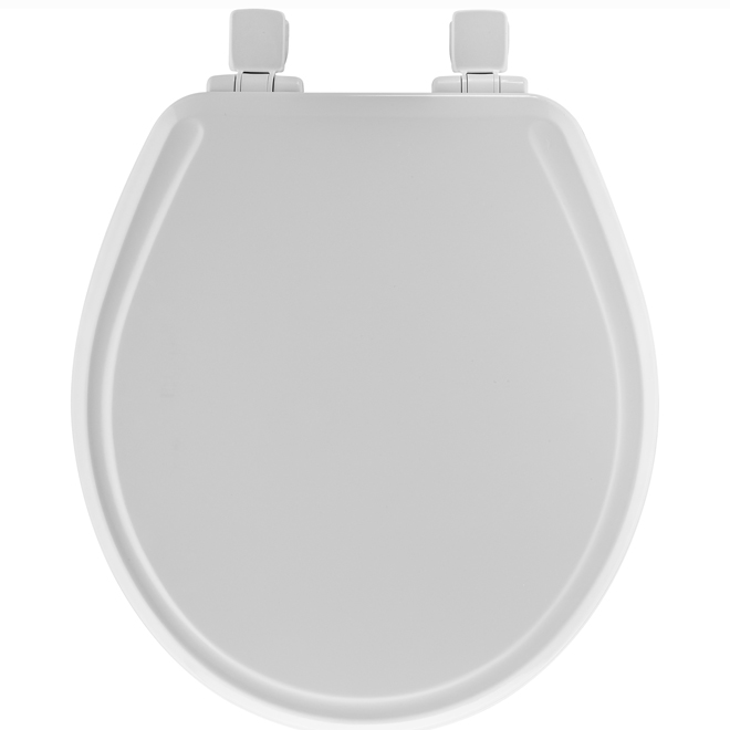 Molded Wood Toilet Seat Regular White Rona