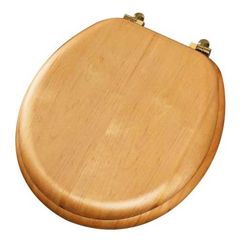 Molded Wood Toilet Seat - Natural Oak