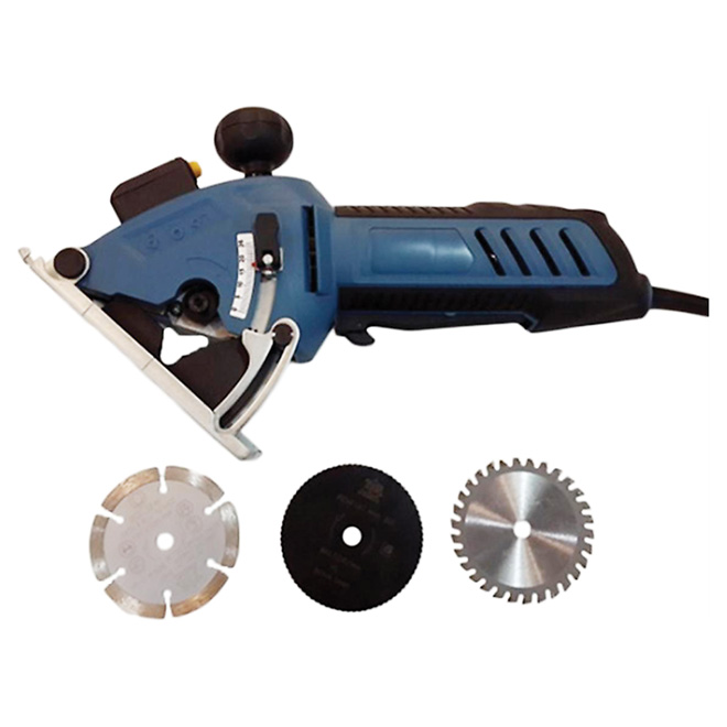 "3 3/8"" Grey Mini Circular Saw 1000 to 3500 RPM"