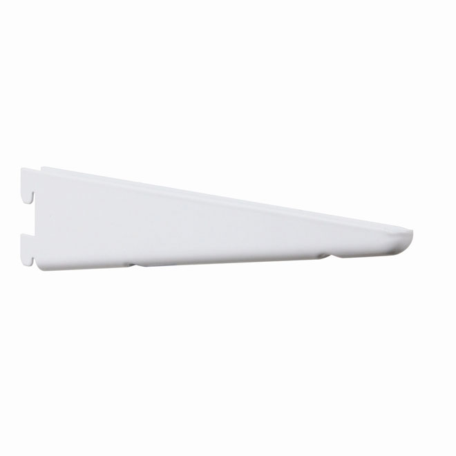 "Steel Double Bracket - 7"" - White"