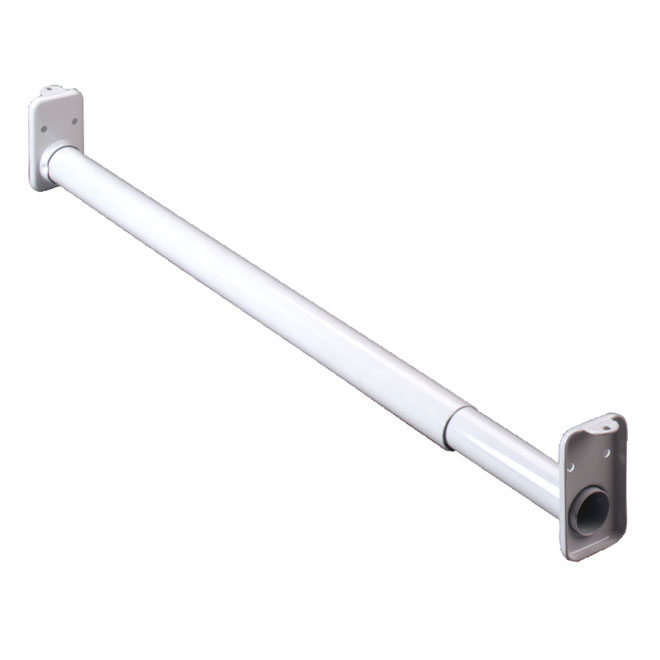 Tringle de garde-robe extensible 30 po à 48 po, blanc