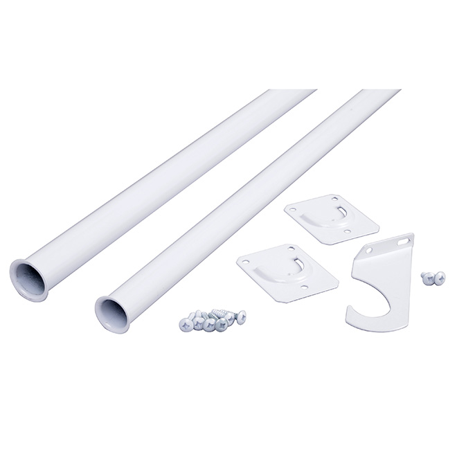 "Adjustable Closet Rod 72""-96"" - White"