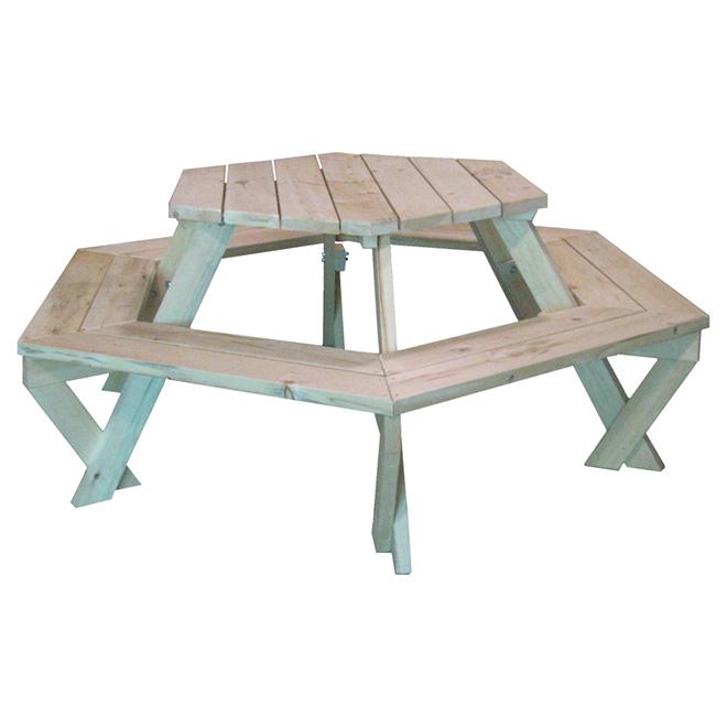 Table 224 Pique Nique Hexagonale Rona