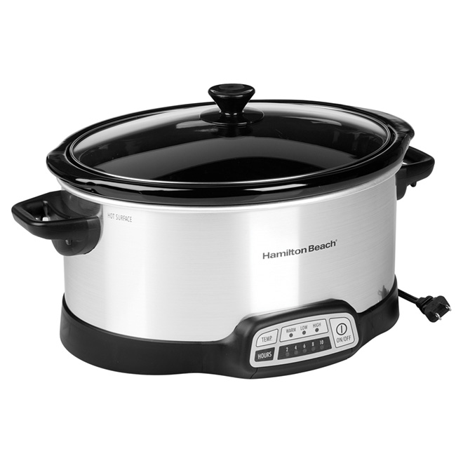 Programmable Slow Cooker - Stainless Steel - 6Qt