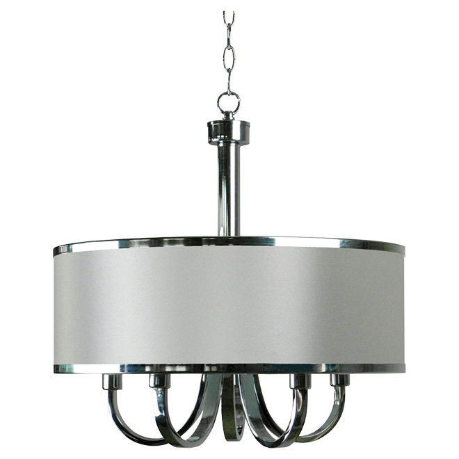 "5-Light Pendant Light - ""Modena"" - Chrome"