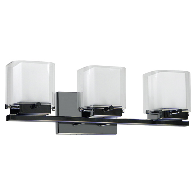 Vanity Light - Louis - 3 Lights - Wall-Mount - Chrome