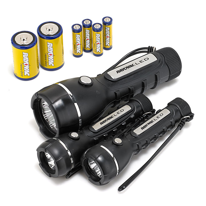 Flashlight and Batteries Combo