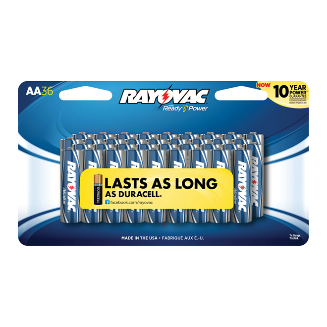 """AA"" Alkaline Batteries - 36 Pack"