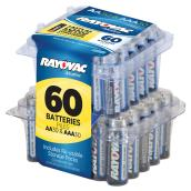 Rayovac Alkaline Batteries AA and AAA - Pack of 60