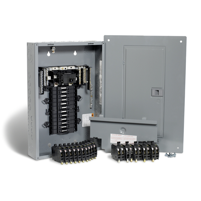 100A 24 Spaces/48 Circuit QO Panel Package with Breakers