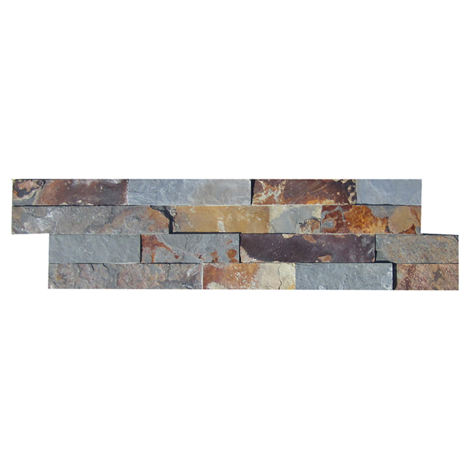 "Ledgestone Wall Slate - 6"" x 24"" - Multicolored"