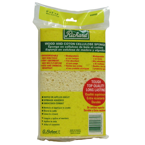 Wood and Cotton Cellulose Sponge