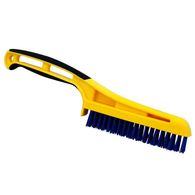 Scrubbing Brush with Nylon Bristles and Soft-Grip Handle