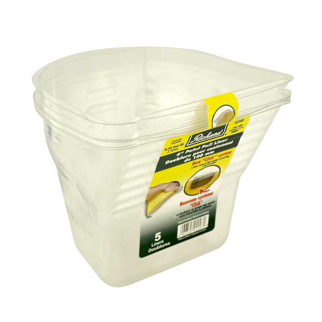 5-Pack Pail Liner 4""
