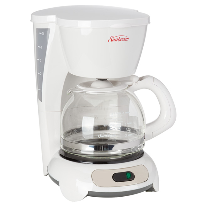 Coffeemaker - White- 5 Cups