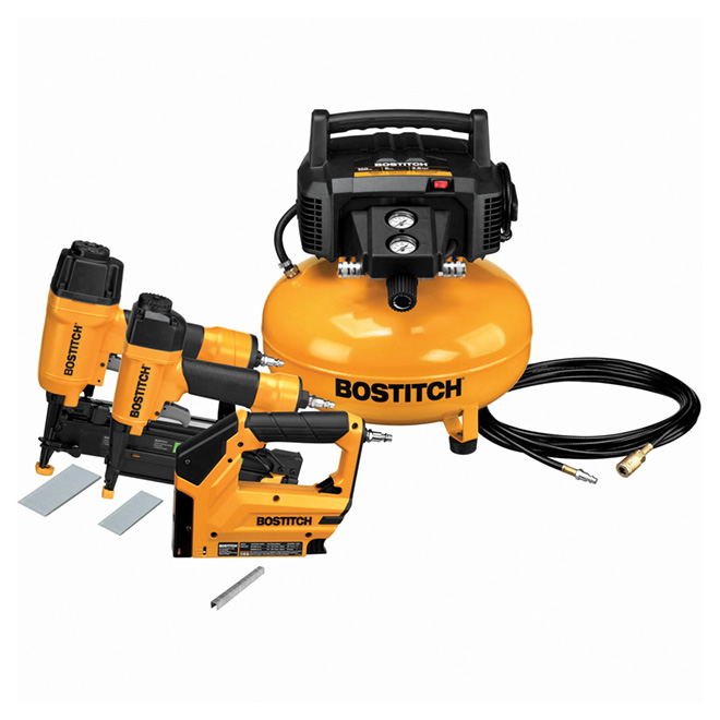 Steel Compressor Nailers And Stapler Yellow And Black Rona