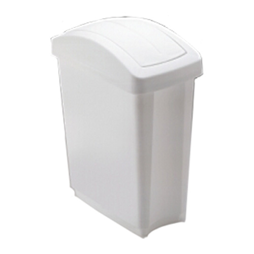 Wastebasket with Swing Top - 12 L - White