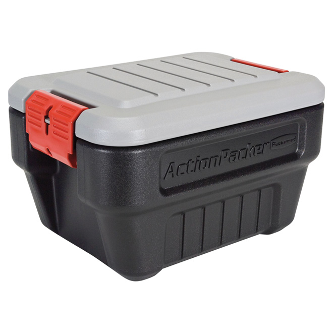 Heavy-Duty Storage Chest - ActionPacker - 30.2L - Black/Grey