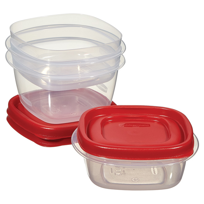 Set of 3 Small Food Containers - Plastic