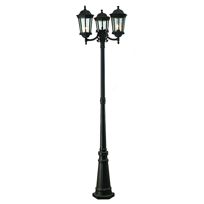 Outdoor lighting patio and post lights rona 3 head outdoor lamp post mozeypictures Images