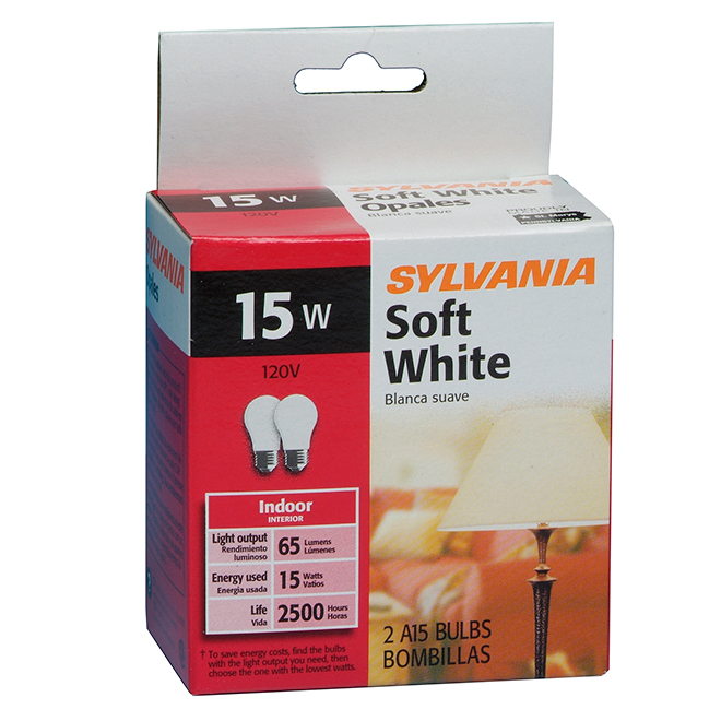 Bulb A15 E26 - Dimmable - Soft White - PK2