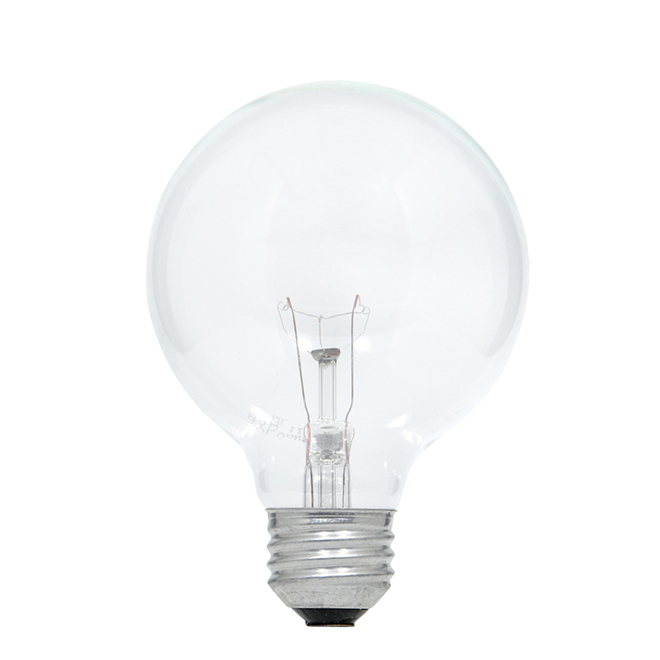 40W Incandescent G25 Bulbs - White - 3 Pack