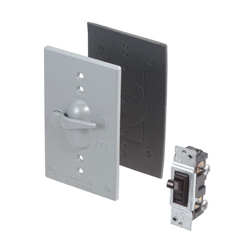 Toggle Switch and Cover - Weatherproof - 15A - 125V