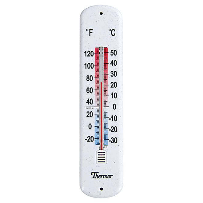 Indoor and outdoor wall thermometer rona for Thermometres exterieurs