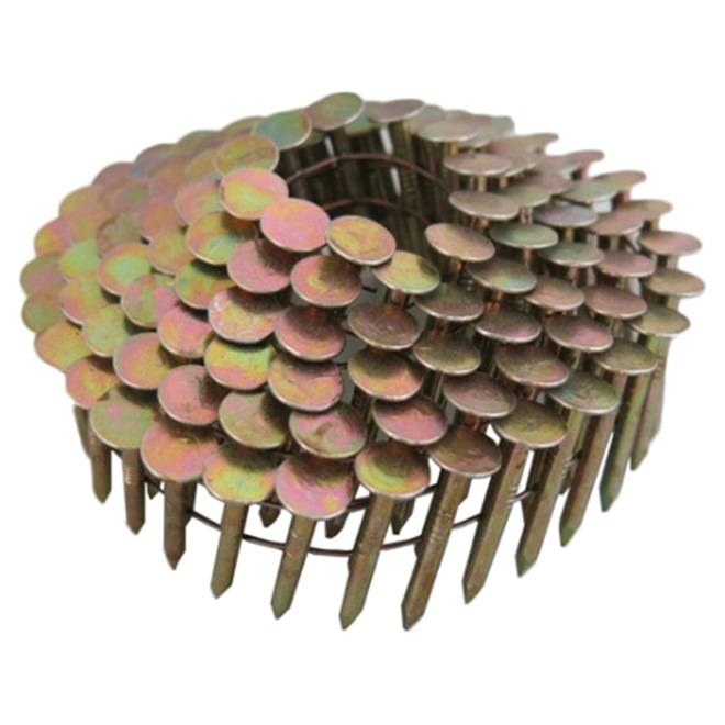 "Roofing Nails - 15° Coil - Galvanized - 1 1/4"" - 7200/Box"