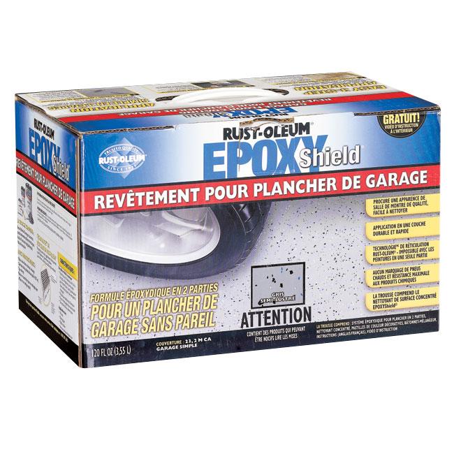 Rev tement pour plancher de garage epoxyshield md gris for Recouvrement de plancher exterieur