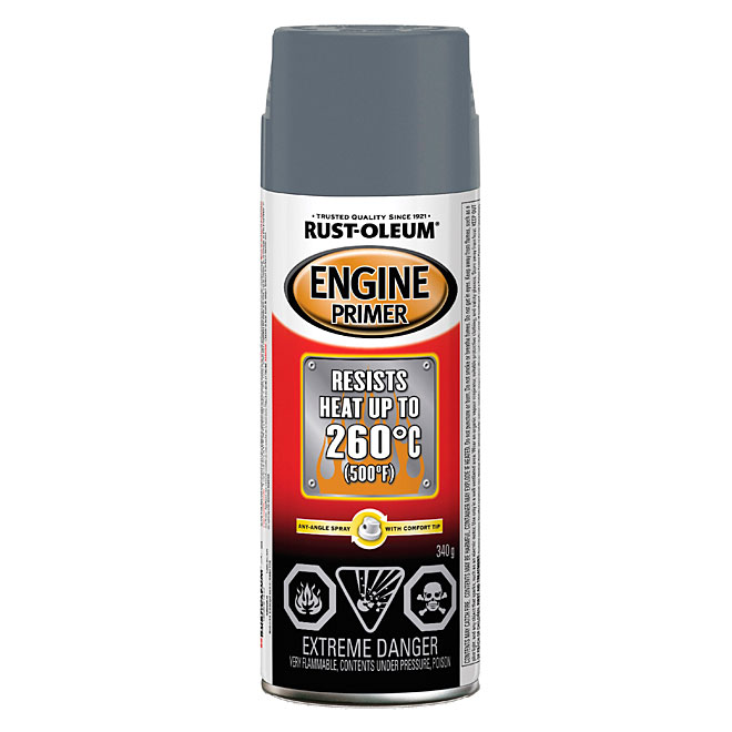 Engine High Heat Spray Primer 340g - Grey
