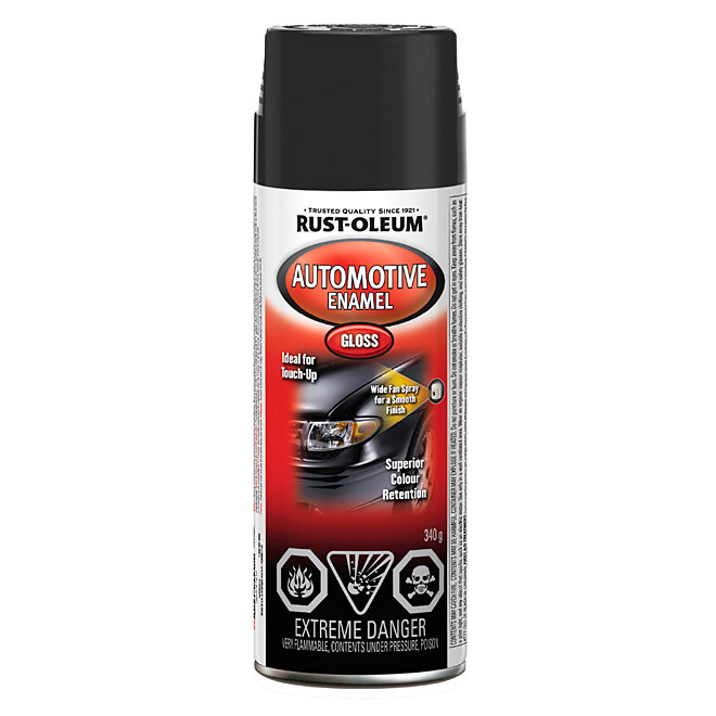 Automotive Enamel Spray Paint - Gloss Black