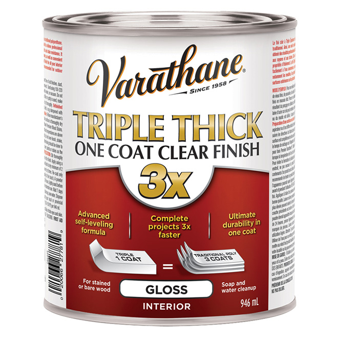 """Triple Thick"" One Coat Clear Gloss Finish"
