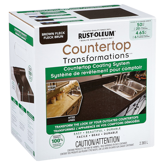 Countertop Coating System - Brown