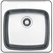 3-Hole Single Sink - 20.5 x 20.5 x 7