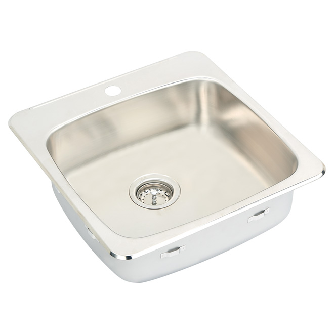 Single Sink - Stainless Steel - Top Mount - 20.5""