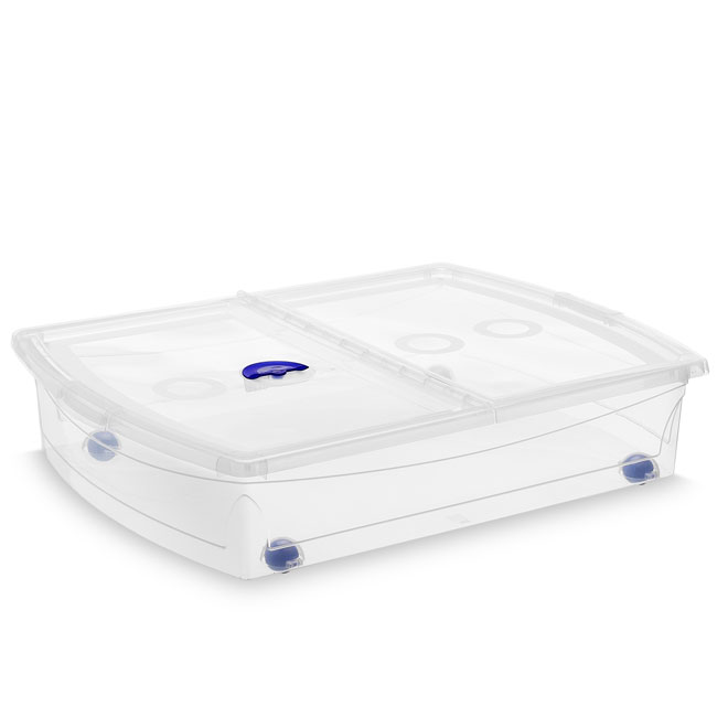 Plastic Storage Box 56 L - Clear