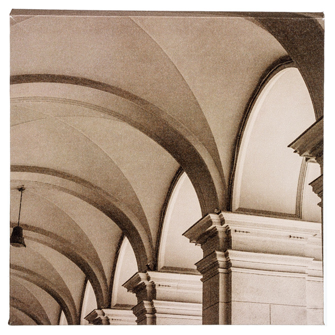 Wood and Cotton Sepia Laminated Canvas - Arches