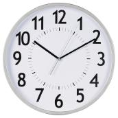 Wall Clock - White/Silver - 12