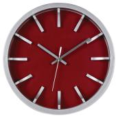 Wall Clock - Red/Silver - 12