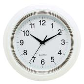 Wall Clock - Aster - White/Silver - 10