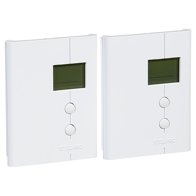 Thermostat programmable, 2500 W, paquet de 2