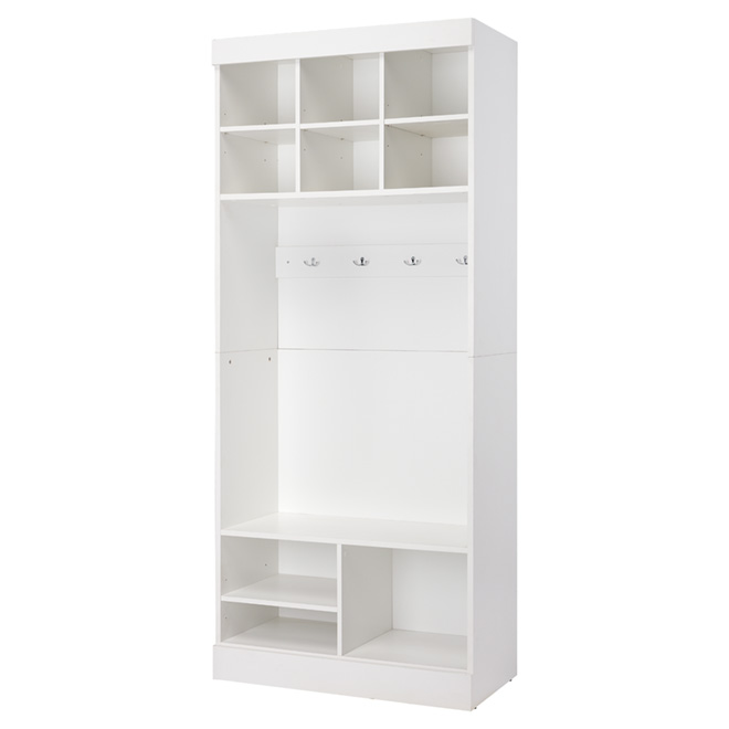 """Pur"" Storage Unit with Bench - 36"" - White"