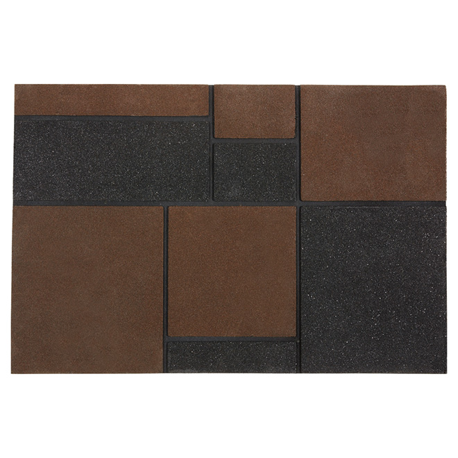 Outdoor Recycled Rubber Mat, Brown
