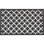 Natural Rubber Mat - Indoor and Outdoor - Black